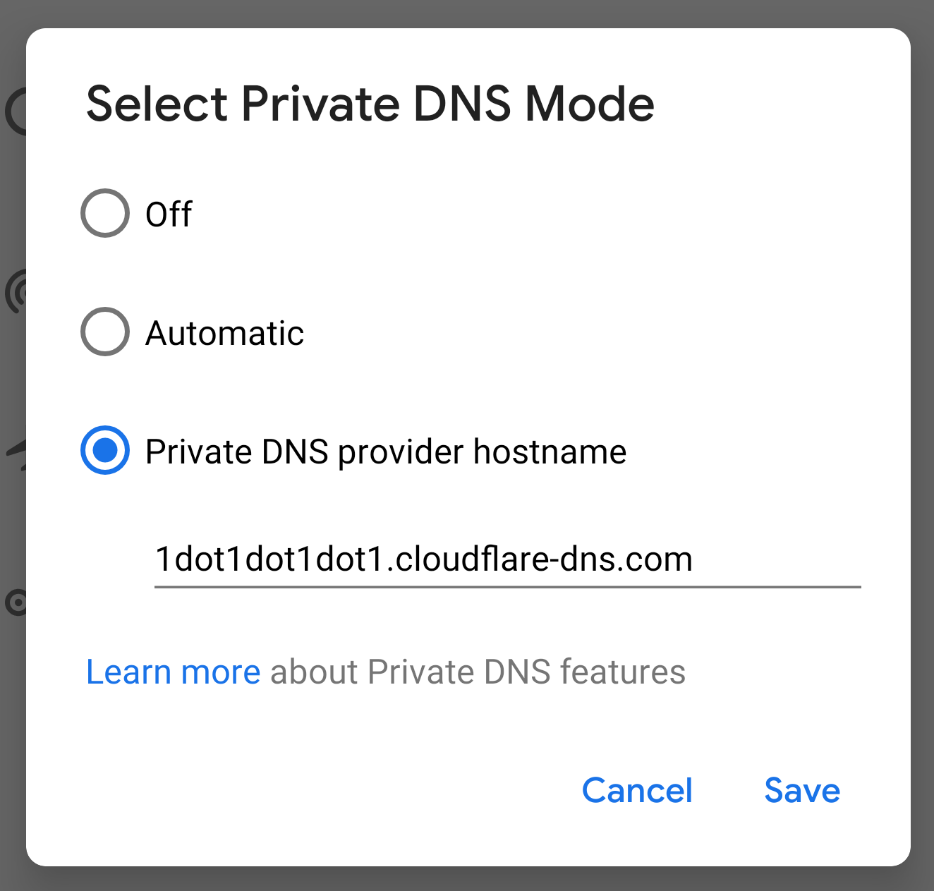 Secure DNS Android